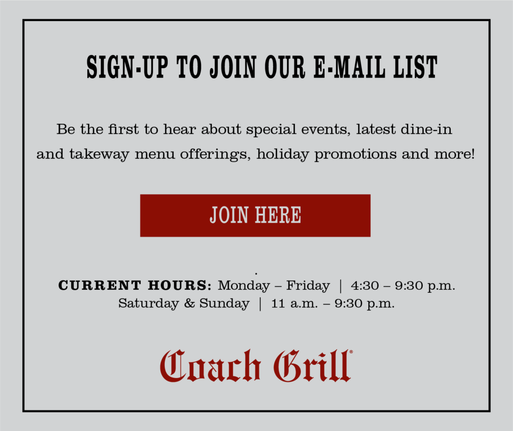 Sign up to join our email list